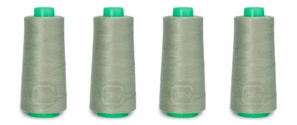 Overlockgarn 4x 2500m Farbe 907 graugrün 100% Polyester