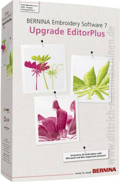 Bernina Designer Plus V7 upgrade von Editor Plus V5 V6 Editor 3 4