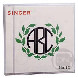 SINGER Stickmotivkarte 12 - Embleme - (ARCHIV)