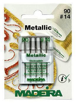 Sticknadel Metallic Stärke 90, 5er Pack (Madeira)