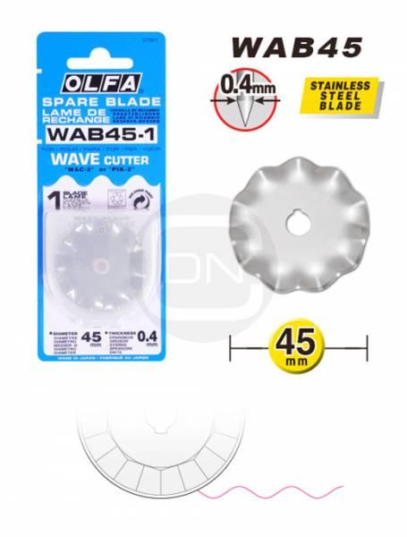 Ersatzklinge Wellenform 45 mm Rollschneider OLFA