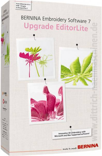 Bernina Designer Plus V7 upgrade von Editor Lite V3 V4 V5