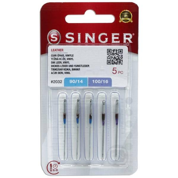 Ledernadel Sortiment Stärke 90 100 - 5er Pack SINGER