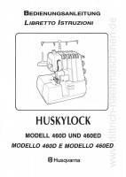 Husqvarna Anleitung Huskylock 460D 460ED - download