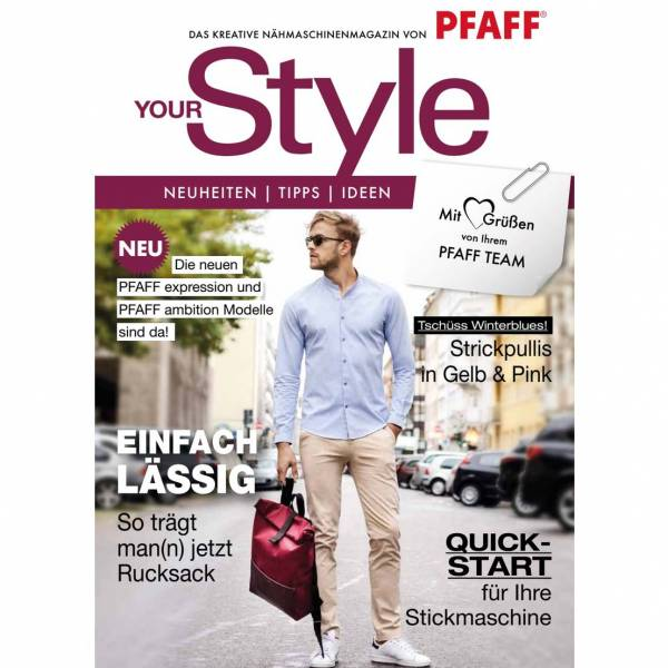 Pfaff YourStyle Magazin Herbst 2018