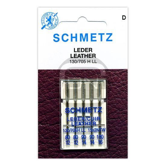 Ledernadel Sortiment Stärke 80 90 100 5er Pack Schmetz