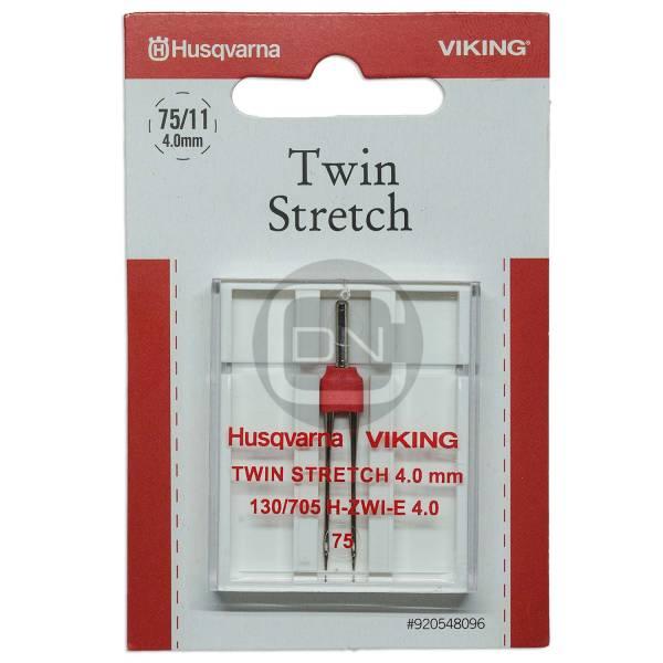 Zwillingsnadel 4,0 mm Stretch Stärke 75 Husqvarna