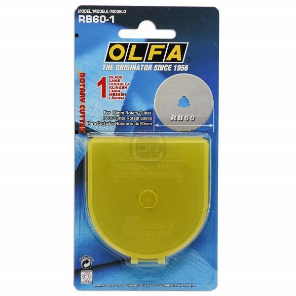 OLFA Aufbewahrungsbox mit 1 Ersatzklinge 60 mm