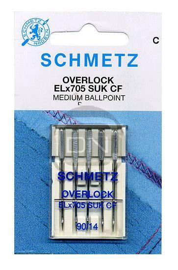 Overlocknadel ELx705 SUK CF, Stärke 90, 5er Pack (Schmetz)