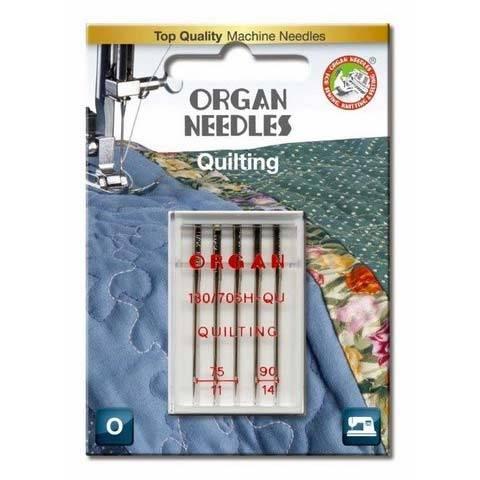 Quilt-Nadel Sortiment Stärke 75, 90, 5er Pack (ORGAN)