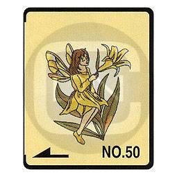 Brother Stickmotivkarte 50 - Fee und Blumen - (ARCHIV)