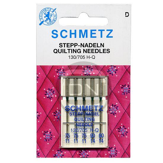 Quilt-Nadel Sortiment Stärke 75, 90, 5er Pack (Schmetz)