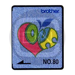 Brother Stickmotivkarte 80 - Jeansmuster - (ARCHIV)