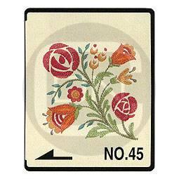 Brother Stickmotivkarte 45 - Blumen und Borten - (ARCHIV)