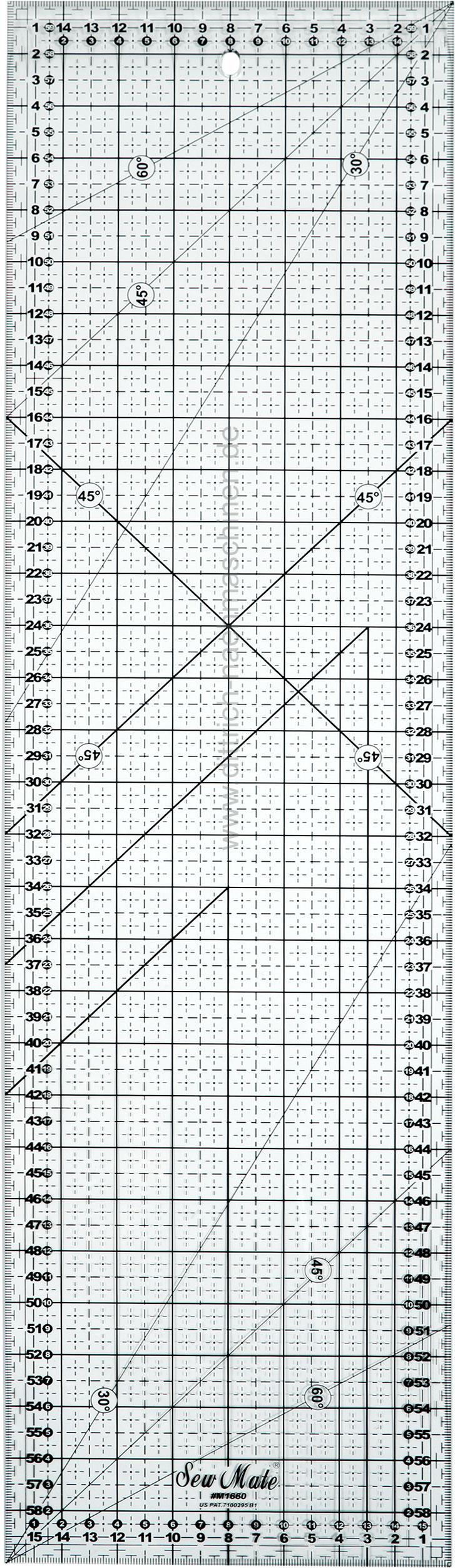 Mler 6 x 24 tommerPatchwork lineal er med inch