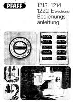 Anleitung Pfaff 1213 1214 1222E - download