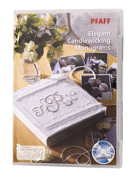 Pfaff Stickmotiv Collection 375 - Elegant Candlewicking Monograms - (ARCHIV)