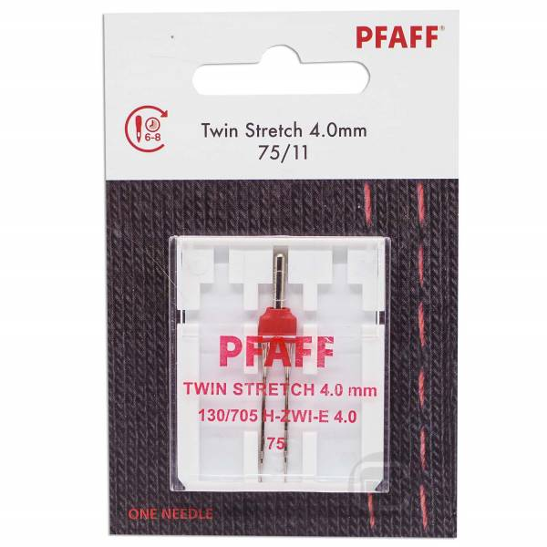 Zwillingsnadel 4 mm Stretch Stärke 80 Pfaff