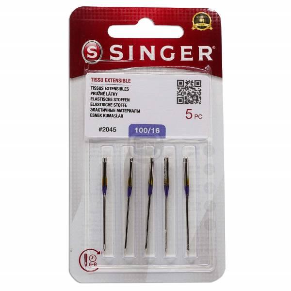 Jersey Nadel Stärke 100 5er Pack SINGER