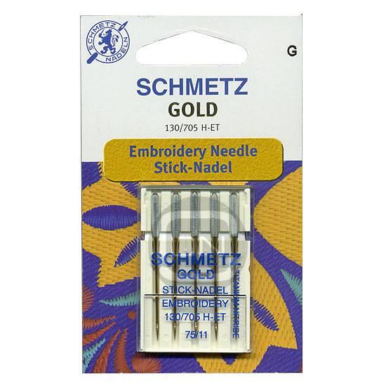 Sticknadel GOLD Stärke 75, 5er Pack (Schmetz)