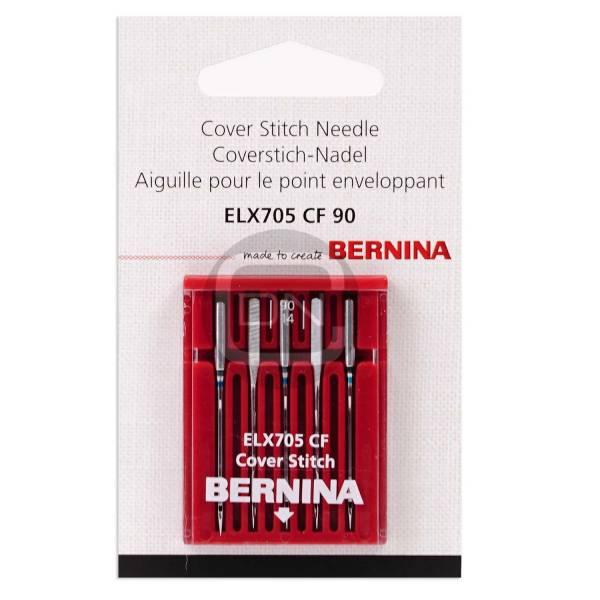 Overlock und Coverlock Nadel ELx705 CF Stärke 90 5er Pack Bernina
