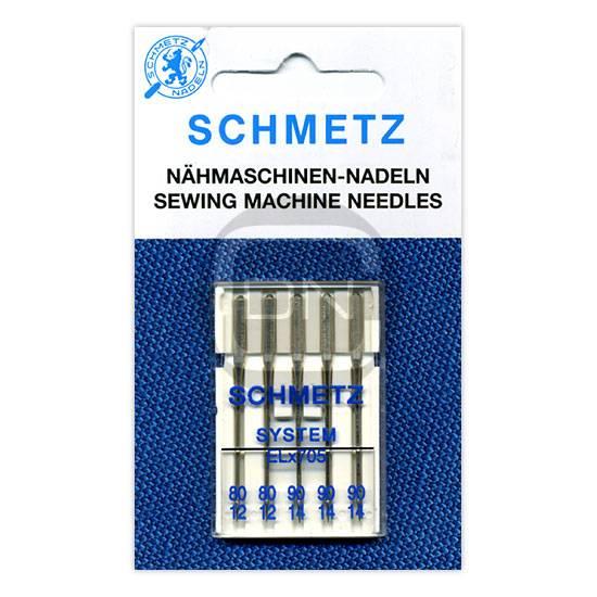 Overlocknadel ELx705 Stärke 80 90, 5er Pack (Schmetz)