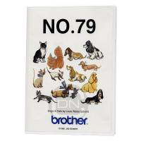 Stickmotivkarte 79 - Dogs & Cats (Brother) - ARCHIV