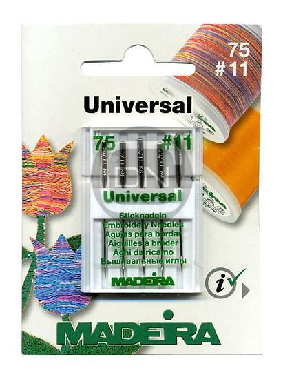 Sticknadel Universal Stärke 75, 5er Pack (Madeira)