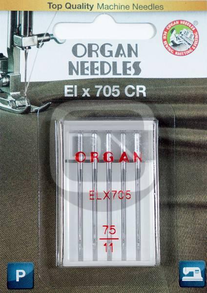 Overlocknadel ELx705 CR, Stärke 75, 5er Pack (ORGAN)