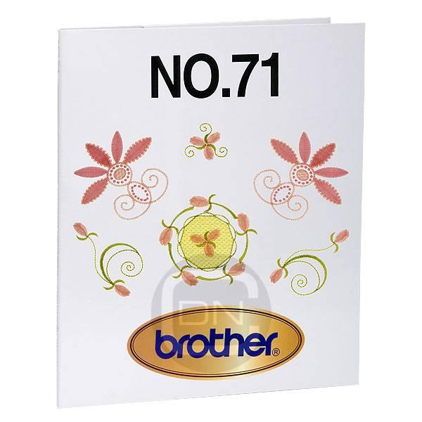 Stickmotivkarte 71 (Brother) - ARCHIV