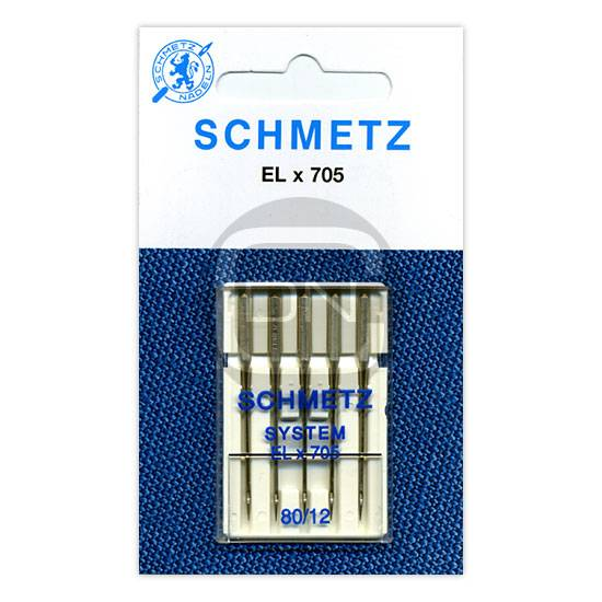 Overlocknadel ELx705 Stärke 80, 5er Pack (Schmetz)