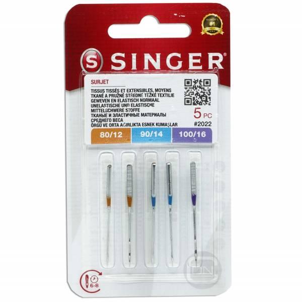 Overlocknadel ELx705 Sortiment Stärke 80 90 100 5er Pack SINGER