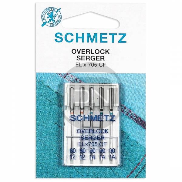 Overlocknadel ELx705 CF, Stärke 80 90, 5er Pack (Schmetz)