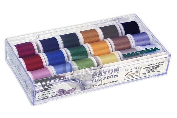 Madeira Stickgarnbox 8040 RAYON 18 Farben