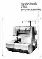 Anleitung Pfaff hobbylock 783 - download