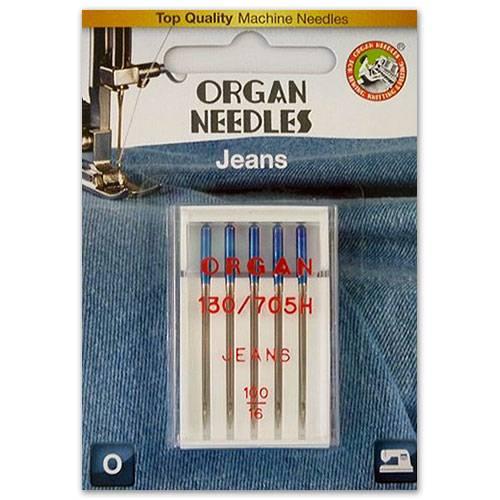 Jeans Nadel Stärke 100, 5er Pack (ORGAN)