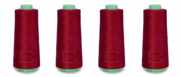 Overlockgarn 4x 2500m Farbe berry 100% Polyester