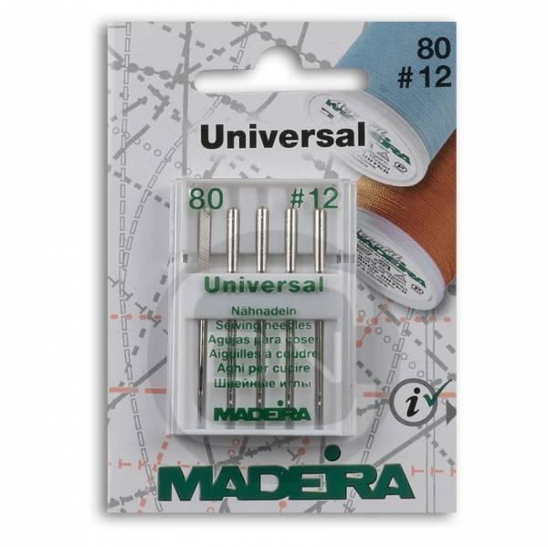 Universal Nadel Stärke 80, 5er Pack (Madeira)