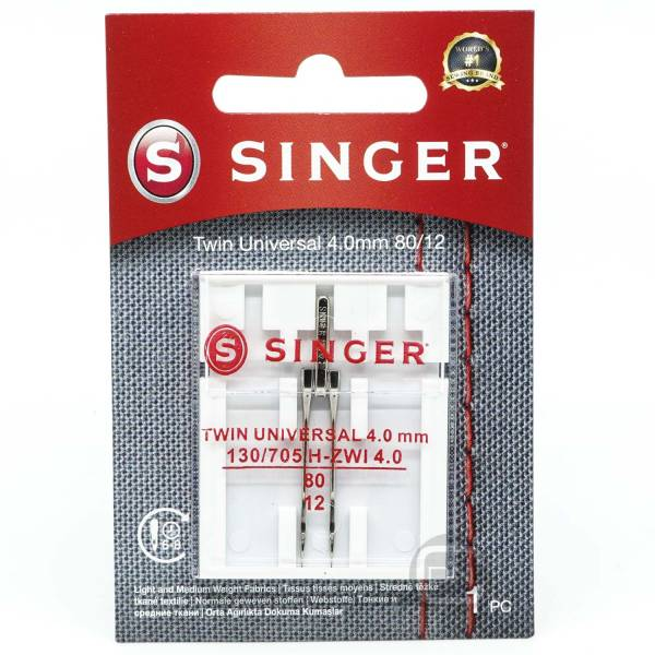 Zwillingsnadel 4 mm Universal Stärke 80 SINGER