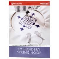 Spring Hoop 100 x 100 mm (Husqvarna Designer, Platinum)