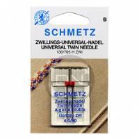 Zwillingsnadel 4,0 mm Uni Stärke 90 (Schmetz)