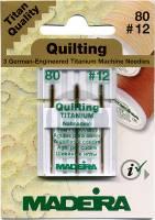 TITAN Quiltnadel Stärke 80, 3er Pack (Madeira)