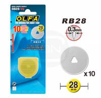 10 Ersatzklingen 28 mm Rollschneider OLFA