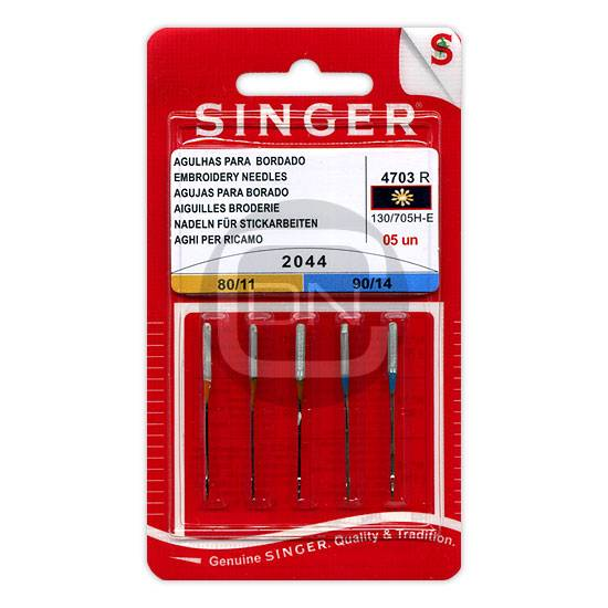 Sticknadel Sortiment Stärke 80 90 - 5er Pack SINGER