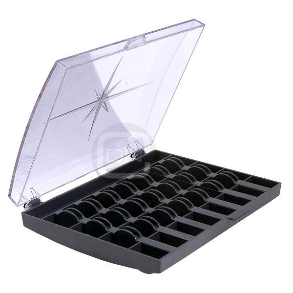 Spulenbox dunkelblau