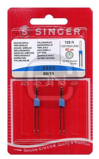 Zwillingsnadel 3 mm Uni Stärke 80 SINGER