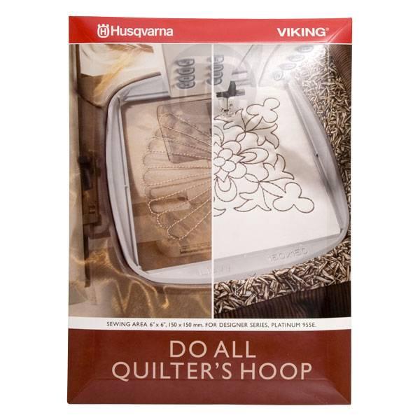 Do All Quilter's Hoop 150 x 150 mm (Husqvarna Designer, Platinum)