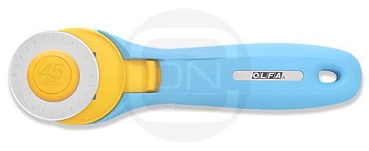 Rollschneider 45 mm aquablue (OLFA für Rechts- und Linkshänder)